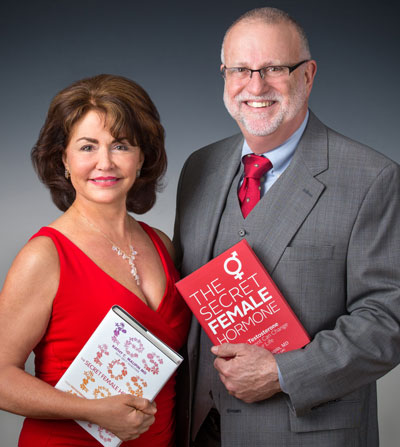 Authors of The Secret Female Hormone, Kathy Maupin, MD, and Brett Newcomb, LPC.